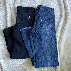 2 girls denim jeans